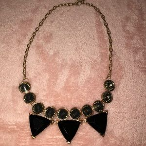 Rosegold Black Pyramid Necklace